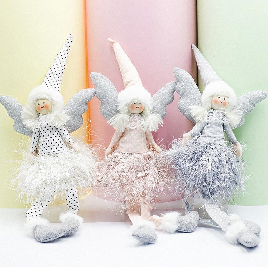 Poupée Ange de Noël à long Pieds Doll Décoration maison Party Ornement Décoration intérieure Cadeaux pour 2019 # R5 ZOIv #