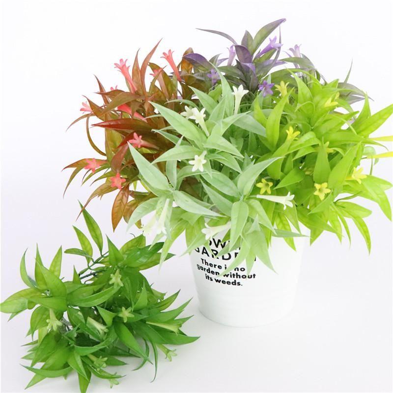 Falsos nueva Beautiful Morning Glory Artificial Con la mini planta de hoja de plástico plantas acuáticas Lily habitación la decoración del hogar de la flor