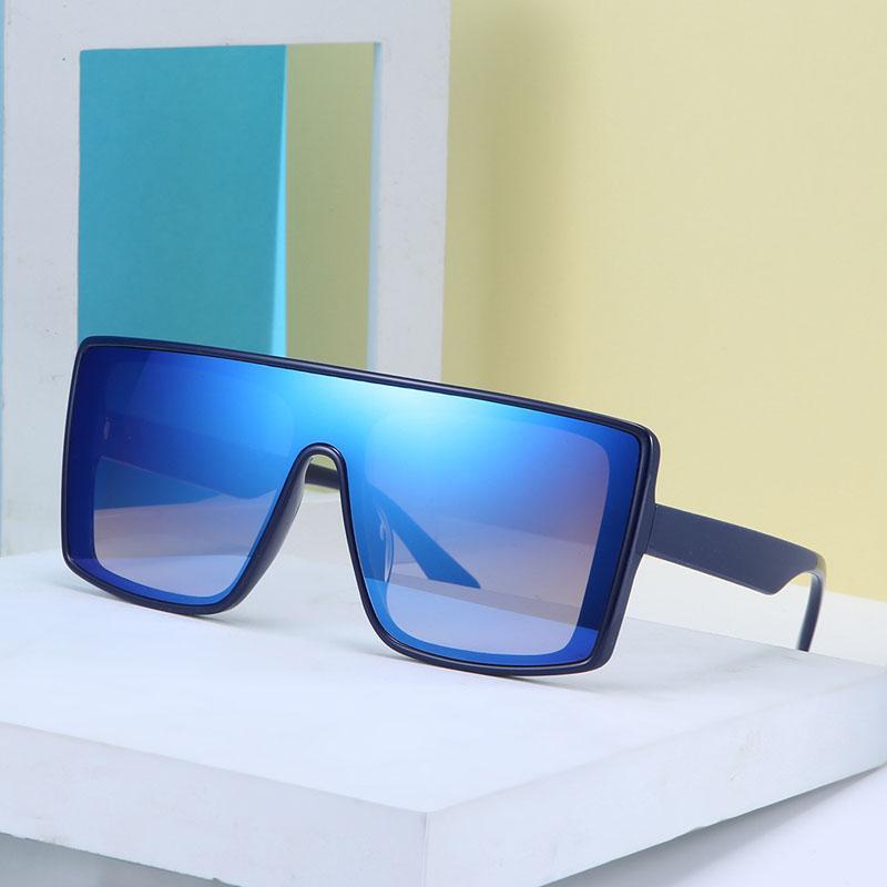 Урожай Негабаритные Солнцезащитные очки Женщины Onepiece площади очки для мужчин Открытый клуб UV400 кадров Оттенки óculos Gafas 2121DF