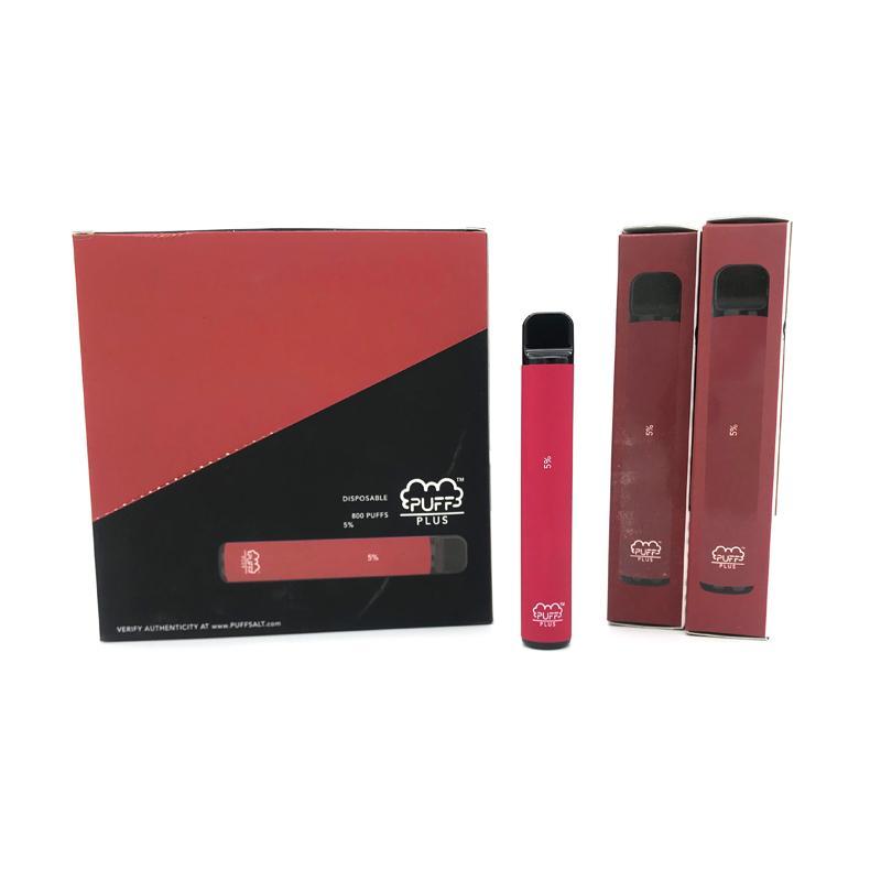 퍼프 바 플러스 550mAh 배터리 53 색 일회용 장치 3.2ml 포드 미리 채워진 vape 스틱 휴대용 증기 퍼프 xxl