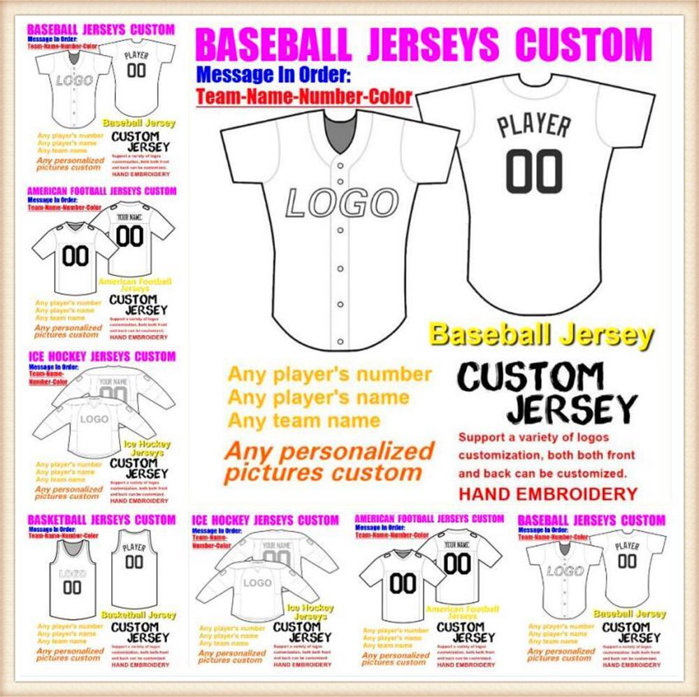 Custom American Football Jerseys para hombres para mujer Juventud Niños Béisbol Hockey sobre hielo Color de baloncesto 32 Equipos Sports Jersey DHL 4XL 5XL 6XL