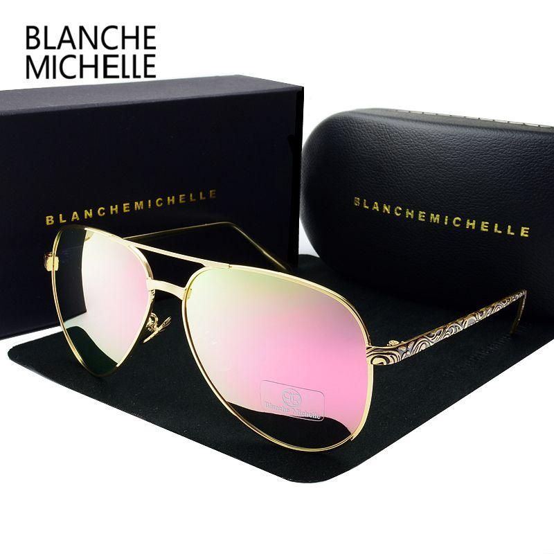 Elevato pilota di occhiali da sole Polarized vintage con UV400 Specchio di qualità Occhiali da sole Occhiali da sole Sun 2020 Donna Okulary Donne Occhiali da sole Box 1006 100 Saan