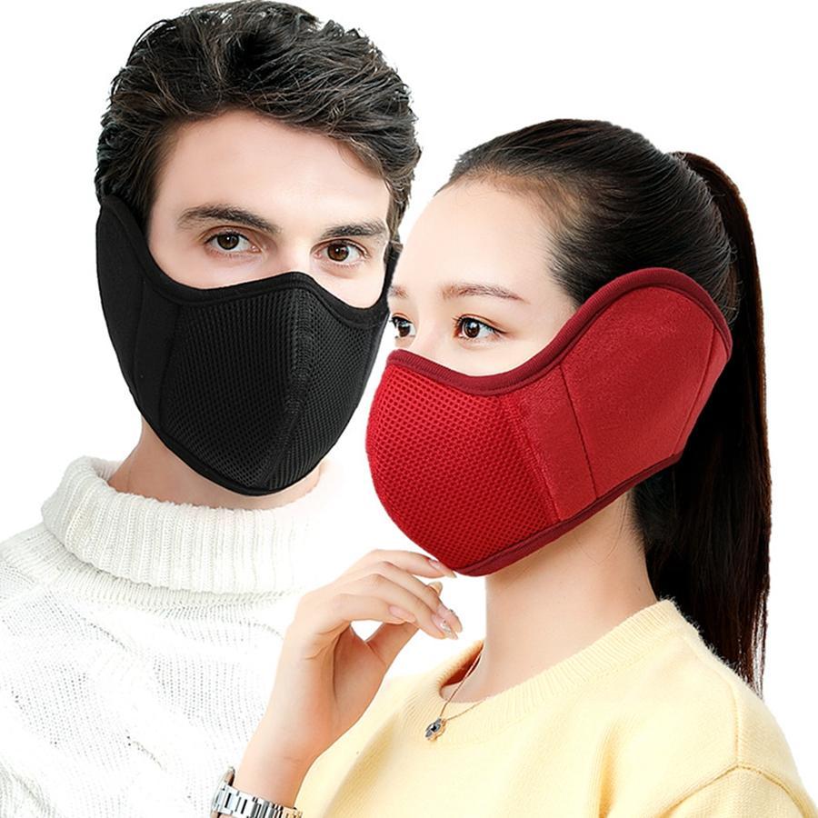 Warme Maske Earmuffs Ear Schutzgesichtsmaske Männer Frauen Breath Winter Outdoor Ohr-Wärmer Earlap Designer Mask DDA753
