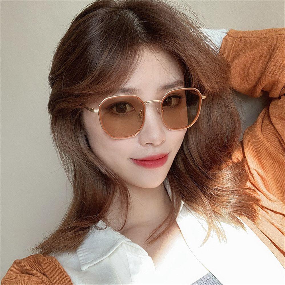 New Vintage Big Square Occhiali da sole Occhiali da sole Occhiali da donna Lady Girl Girl Oversize Occhiali da sole Fashion Famous Marca Eyewear Gafas de Sol