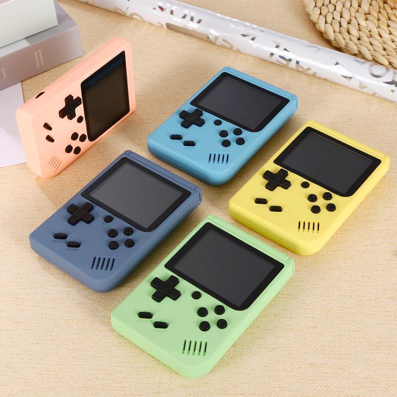 مصغرة للأطفال لعبة لاعب مناسبة للأطفال الكبار المعكرون لعبة وحدة 5-color 500/400 في 1 الرجعية فيديو آلة محمولة آلة
