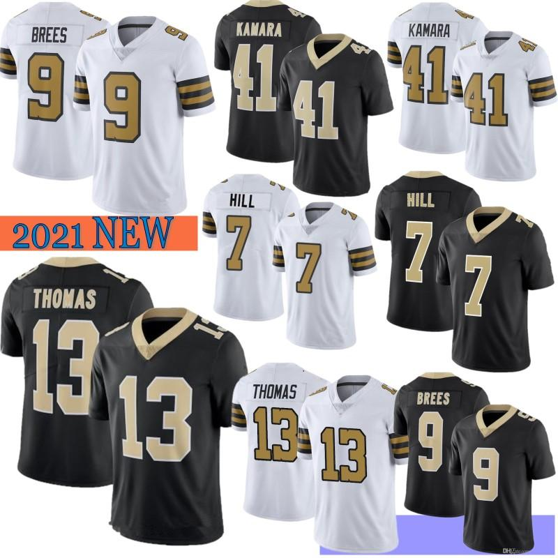 9 Drew Brees Homens Futebol Jerseys 41 Alvin Kamara Marshon Lattrimore 13 Michael Thomas 7 Hill 94 Cameron Hot Sale S-XXXL