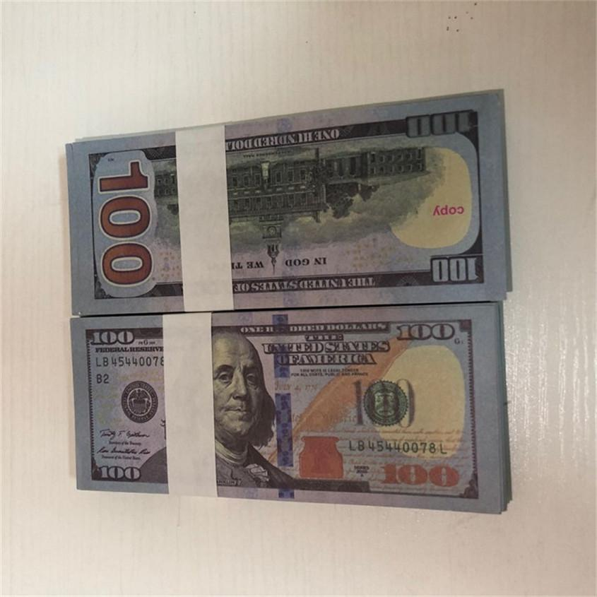 Venta al por mayor Money Props Bar Pieces / Paquete 100 GldPl Papel Fast Dollar American Paper Ambustion Envío Props 100-3 Moneda Tsfui