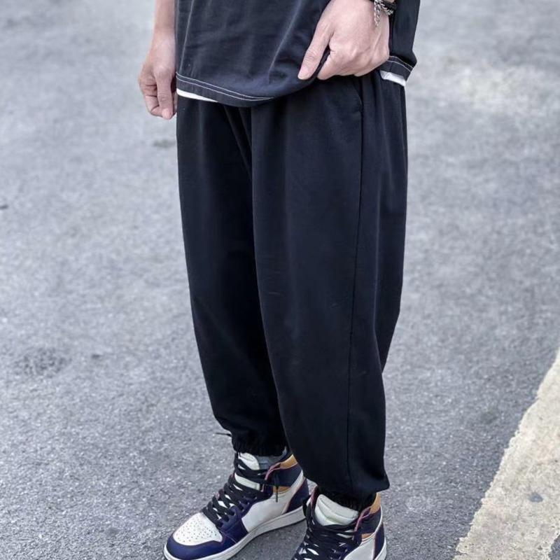 Мужские Joggers Брюки Повседневные брюки Хип-хоп Унисекс Брюки Модные Усполщители Полосы Паналлированный Карандаш Джоггер Брюки Азиатский Размер 97G7