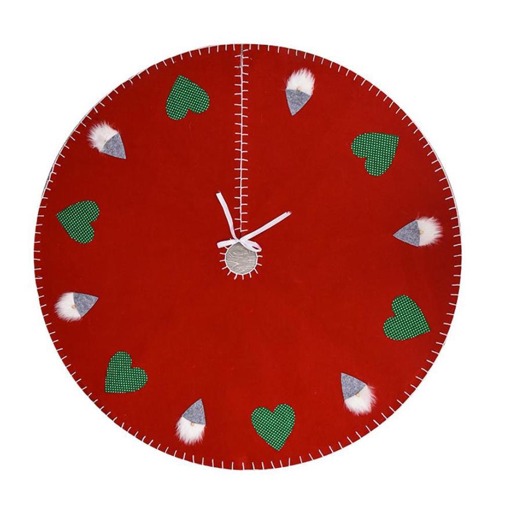 2020 С Рождеством Дерево Юбки Мат Нетканые ткани Любовь Печать Главная Принадлежности для Рождества партии Дерево Новый год украшения