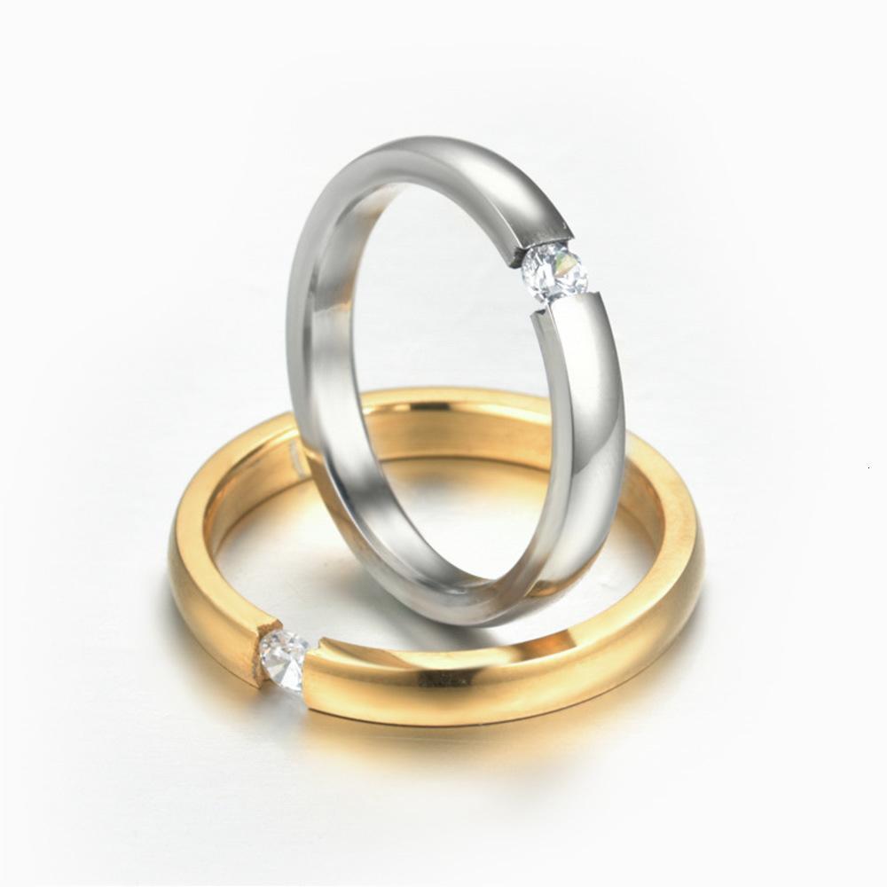 Нержавеющая жидкость Zircon кольцо, открытие титанового стали, инкрустированное алмазом, головной убор свадьбы пара, леди и хвостовое кольцо