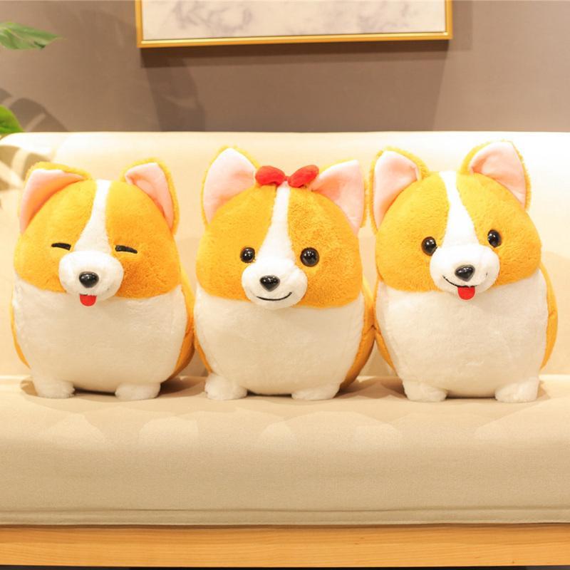 38/45 / 60 cm kawaii corgi dog plüsch spielzeug weich gefüllte cartoon tier kissen nette weihnachtsgeschenk für kinder kawaii geburtstagsgeschenk y0106