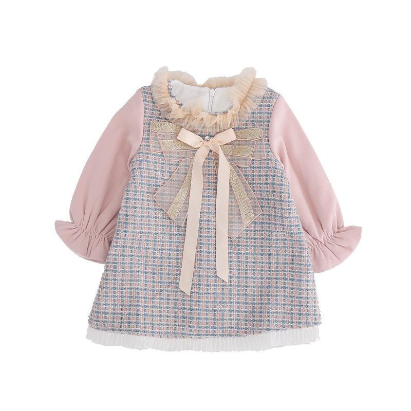 2021 novo bebê recém-nascido para aniversário A-line xeet roupas princesa infantil roupas criança crianças com arco 0-4Y OKR2