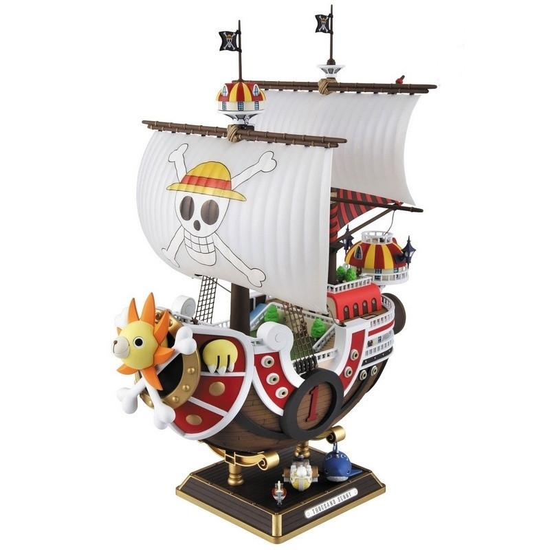 28 cm One Piece Mil Sunny Meryl Boat Pirate Ship Figure PVC Action Figure Toys Modelo de colección Juguete
