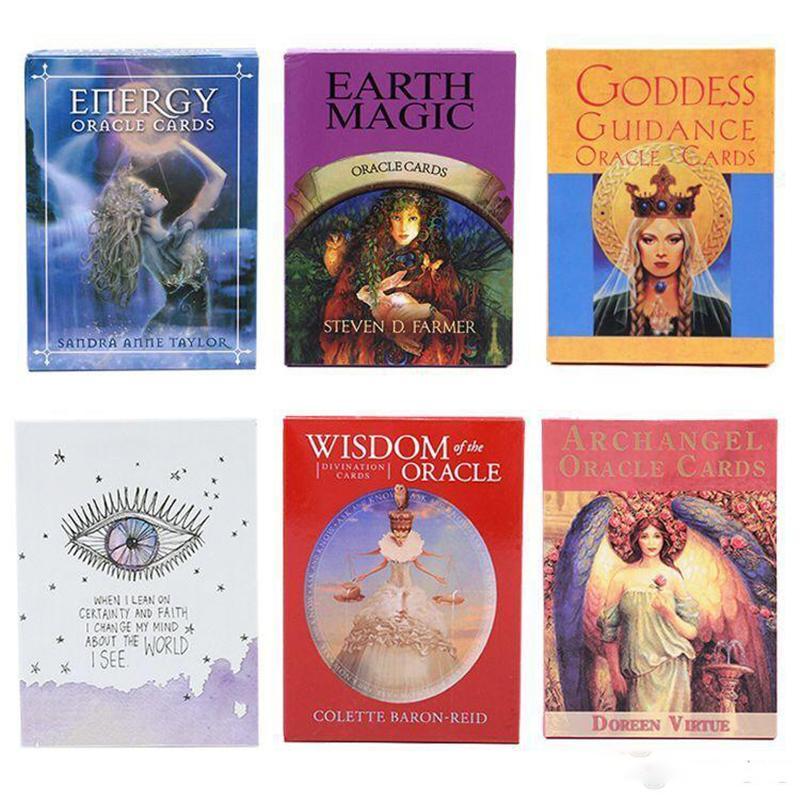 Английская версия Tarot Card настольная игра Романтические ангелы Читайте судьбу Oracle Cards Deck Towerious