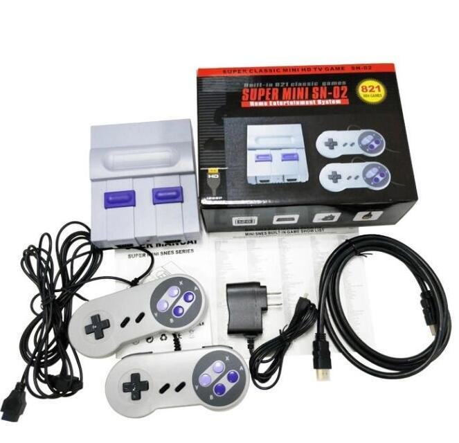 HDTV 1080P OUT TV 821 Oyun Konsolu Video El Oyunları SFC NES Oyunları için Sıcak Satış Çocuk Aile Oyun Makinası Sıcak Satış