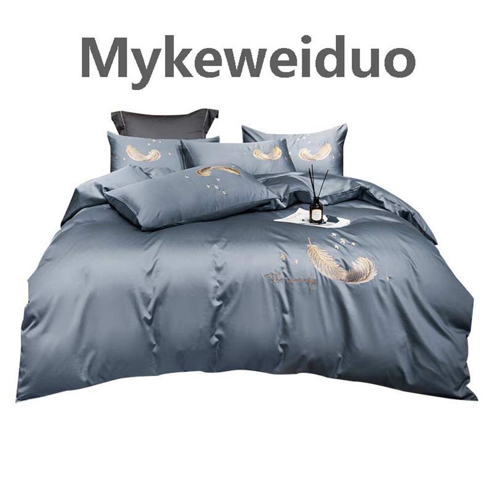 Mykeweiduo cotone Home Textile morbido Bedding Set Base solida copripiumino Asiatica Taglia Quilt Cover Moda Biancheria da letto 4pcs set biancheria da letto