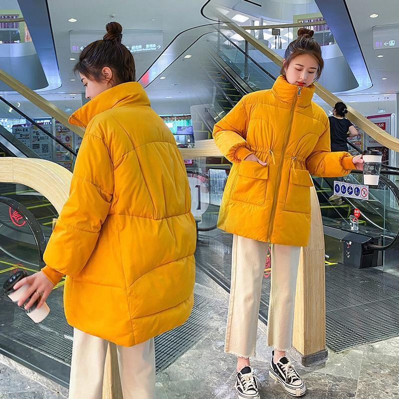 Nuove donne incinte Abbigliamento invernale Abbigliamento gravidanza Moda Coreano Giacca imbottita Allentato Cappotto di cotone medio-lunghezza mid-lunghezza