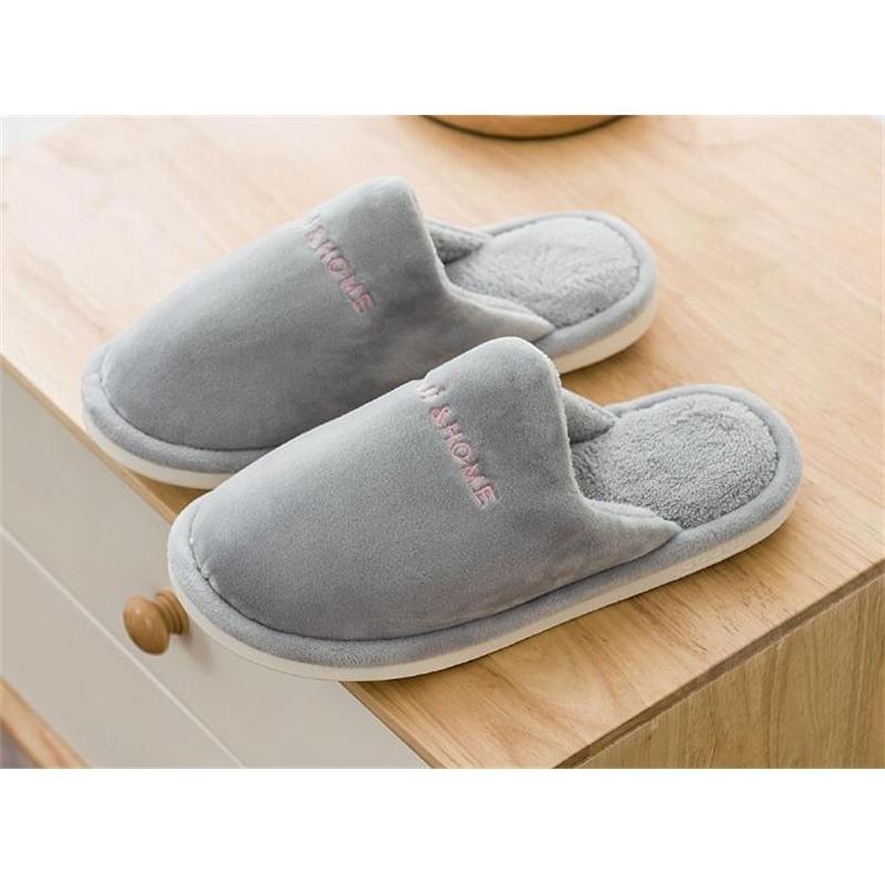 Kadın Ayakkabı Kış Sıcak Ev Terlik Kadın Moda Çift Kadın Peluş Sıcak Terlik Kapalı Yumuşak Çift Kapalı Terlik 201127