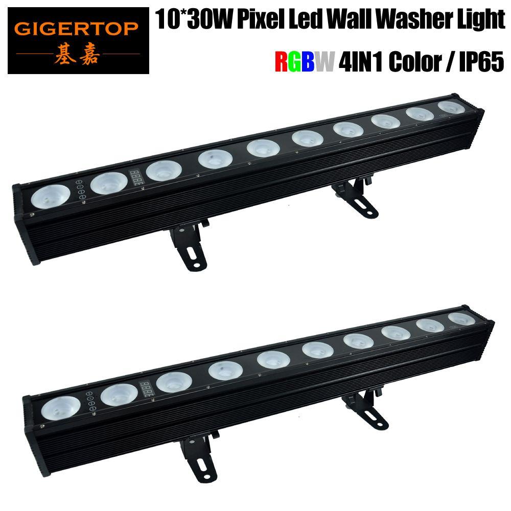 2pcs / lot DMX512 Control 10x30W LED WALL LED LOIS DEL LED PIXEL BAR BAND STRAING STRABE 4IN1 DJ Disco Effet Efficge