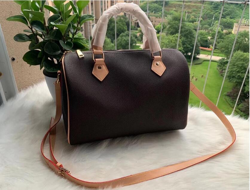 25 / / 35 centimetri Fashion bag 30 100% vera pelle di speedy Handbag Tote Classic Canvas Shopping Bag di viaggio del sacchetto 40391