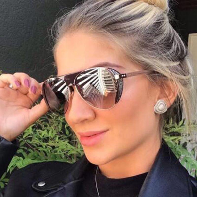 2020 Retro Petit Ovale Punk Lunettes de soleil Femmes Fashion Designer Shades Brillant épais Edges Lunettes de soleil Femme Lunettes UV400