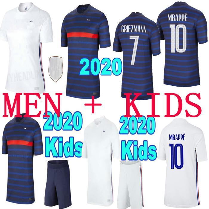 2020 França Mbappé GRIEZMANN Pogba camisola camisas 2021 de futebol camisa de futebol maillot homens pé + crianças kit de