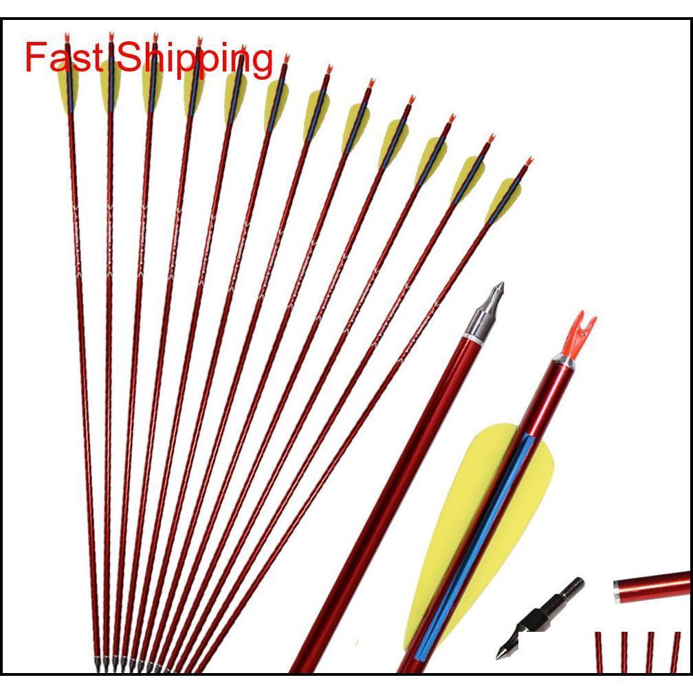 """31 """"Arrapery Aluminium Arrows Рецитарные лук и составные лук Алюминиевые стрелки для наружной практики или охоты S5E9M"""