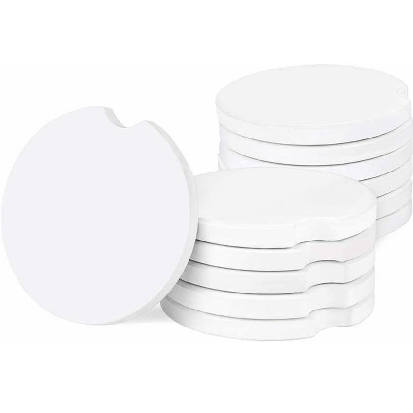 Sublimación Posavasos de cerámica de automóviles en blanco 6.6 * 6.6cm Transferencia de calor de impresión de la transferencia en blanco Materiales de consumibles en blanco Envío rápido DDD4191
