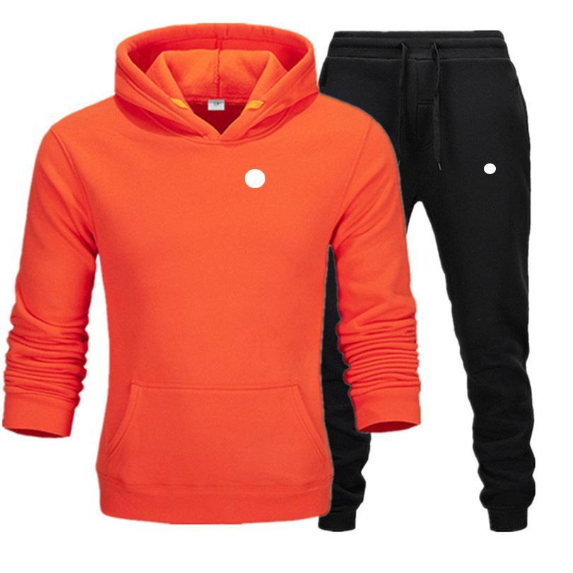 Outono dos homens dos homens dos homens dos homens esporte terno branco barato homens com moletom e calça moletom com capuz e calça conjunto de suorsuit