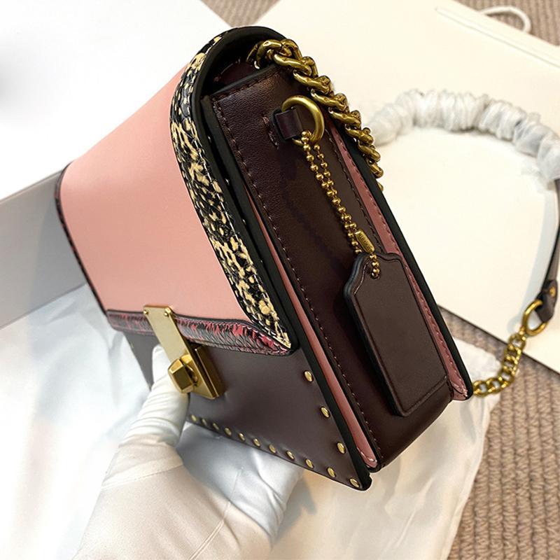 New Bags 2020 Hatton Flap Feitiço Cor Restaurando Maneiras Antigas é um ombro Worn Chain Bag Senior Bolsa de couro sênior
