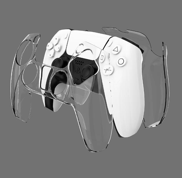 Новое поступление жесткая прозрачная защитная оболочка чехол для кожи для контроллера PS5 бесплатно