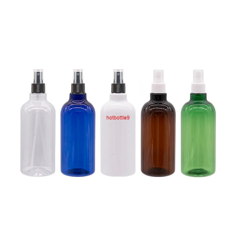 500ml Empty Cosmetic Bottle With Black White Pump Refillable Mist Spray Plastic Perfume Container Green Containerpls order