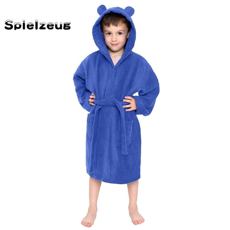 Moda Bambini Bambini ragazzi Ragazzini BAGNO BAGNO Colori solidi con cappuccio Flannel Accappatoi con asciugamano cintura Abito da notte Sleepwear Pigiama # G4 Y200429