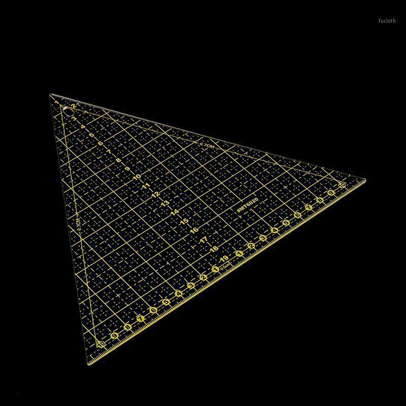 1 PC Transparent Quilter Lineal Großes dreieckiges Nähen-Lineal-Werkzeug mit Gitterlinien Patchwork1