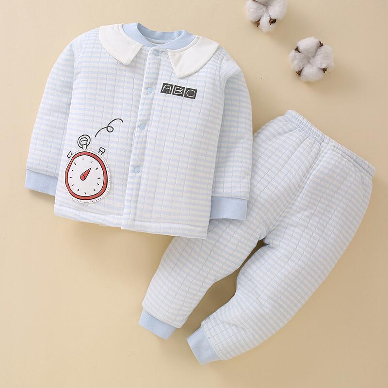 신생아 아기 소년 소녀 뼈없는 면화 패딩 된 옷 2pcs 코트 + 바지 겨울 가을 유아 의류 0-2years 오래 된 Y1113에 대 한 가을