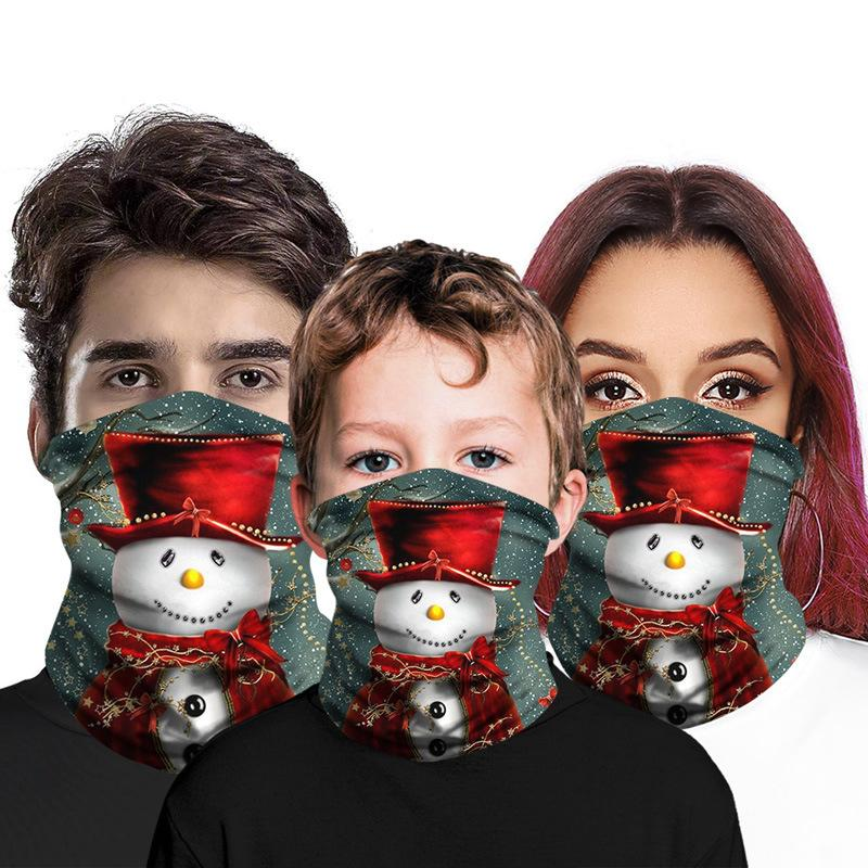 Christmas Face Bandana Neck Gaiter for Adult Kids Face Mask Balaclava Outdoor Sports Cycling Magic Scarf Xmas Party Favor Free DHL LQQ225