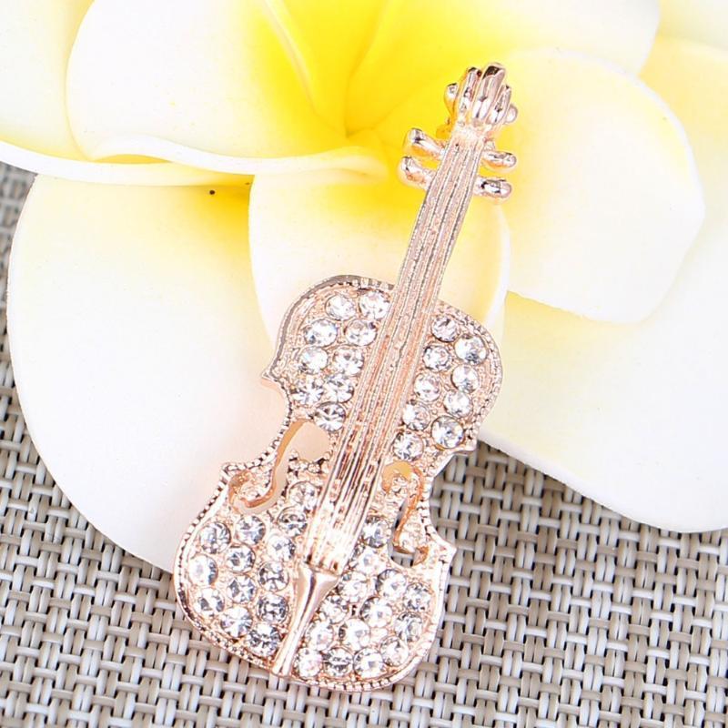 Temperamento Violino spilla gioiello per le donne / uomini gioielli di moda Spilla perni metallici regalo di nozze sciarpa Diy Accessori per gioielli