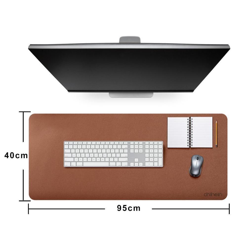 95x40cm, 115x50cm Impermeabile Impermeabile Desk Pad Protector, PU Blotters con tastiera con tastiera con tastiera PU Blotters con scrittura confortevole LJ201031