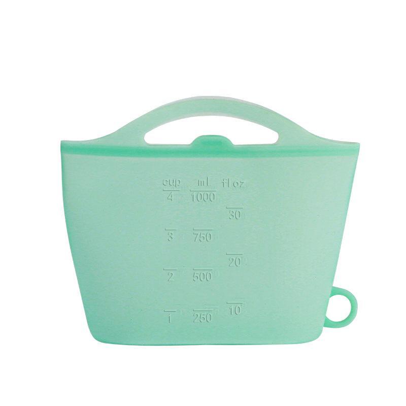 قابلة لإعادة الاستخدام سيليكون حفظ الغذاء حقيبة محكم ختم الغذاء الطازجة الحاويات التخزين تنوعا كيس الطبخ سيليكون الطعام حقيبة طازجة CCA3173