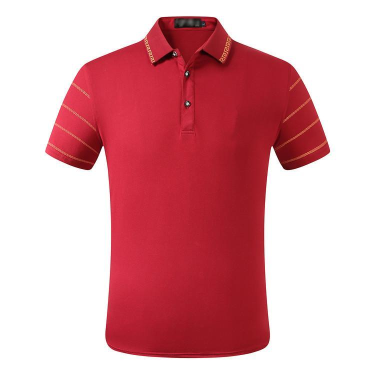 Moda Mens Polos High Street Casual Manica Corta Designer Designer Polo Camicie da uomo Polos Casual Mens Polo Camicie T Shirt 1S