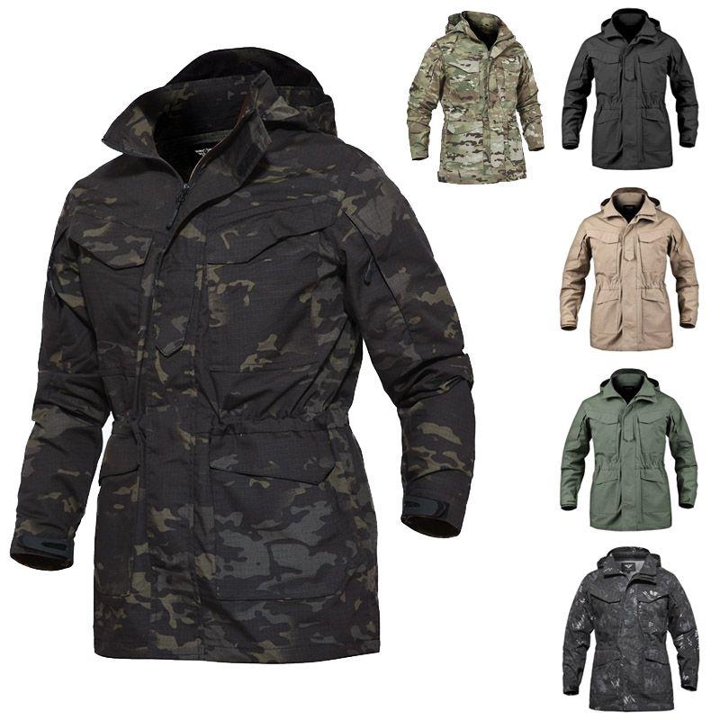 Abbigliamento per esterni Boschi Caccia Caccia Cappotto Cappotto Tactical Combattimento Inverno Abbigliamento invernale Camouflage Giacca a vento Tactical Outdoor M65 Giacca NO05-216