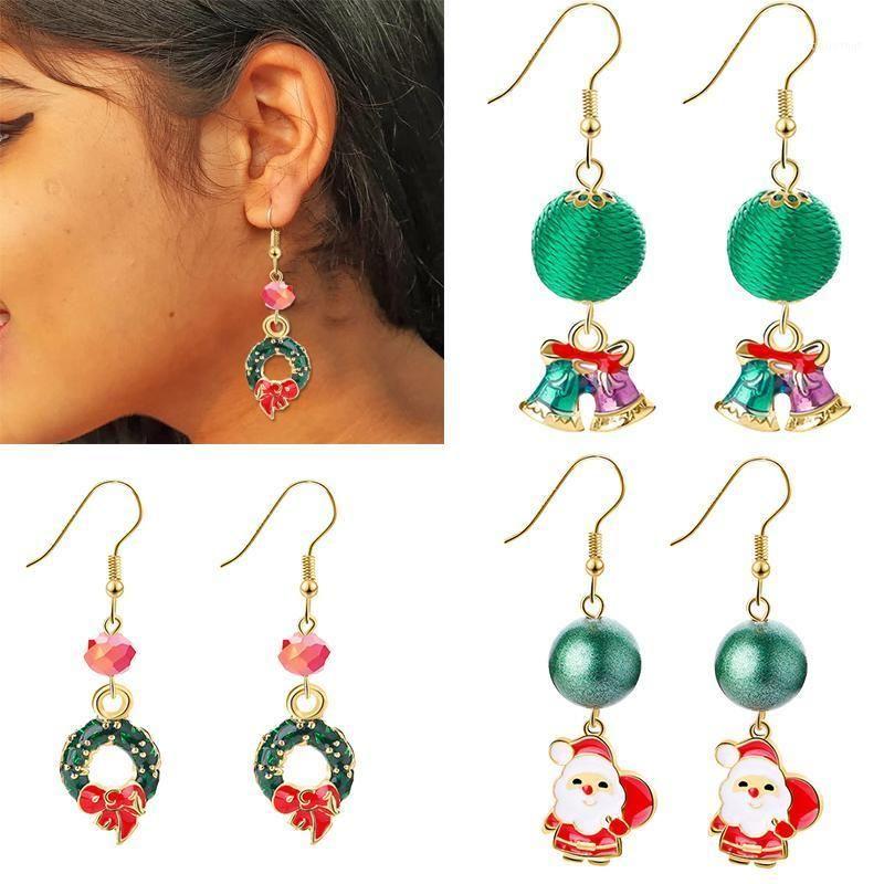 Cyuan Christmas Earring Pendant Tree Santa Claus Christmas Deer Snowflake Cute Women Earrings Jewelry Gifts Navidad1