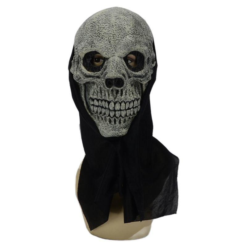 Хэллоуин реалистичный взгляд череп скелет страшно маска призрак полное лицо косплей вечеринка ужас костюм для взрослых карнавальных реквизитов