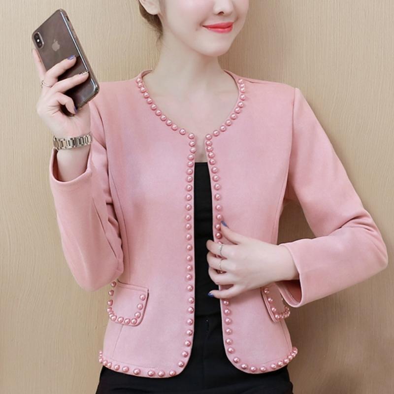 Для женщин Куртки и пальто Моды розовых белых черных Женщин куртки с длинным рукавом пальто Женщины 3XL 4XL Плюс Размер куртка женщины A963 201013
