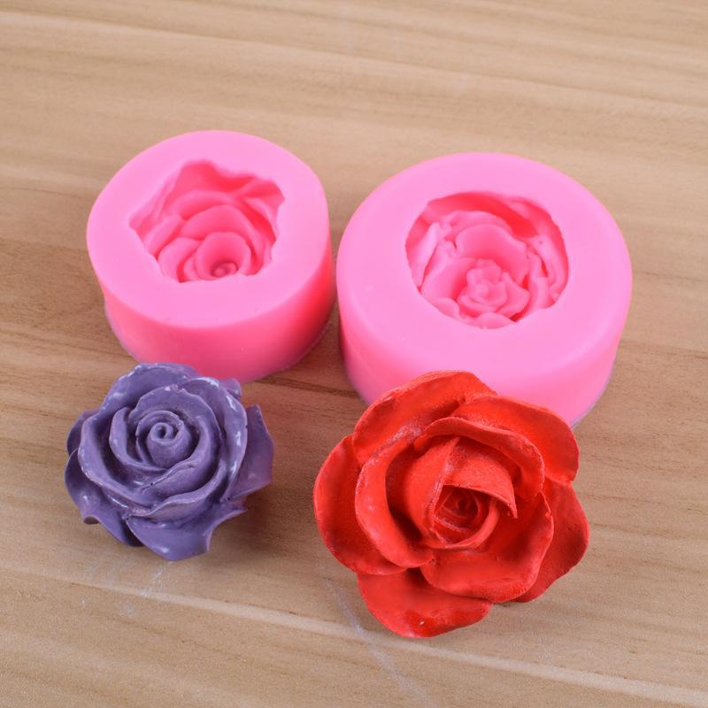 Blüte rose silikon kuchenform 3d blume fondant diy form cupcake jelly süßigkeiten schokolade dekoration backen werkzeugformen dhl frei