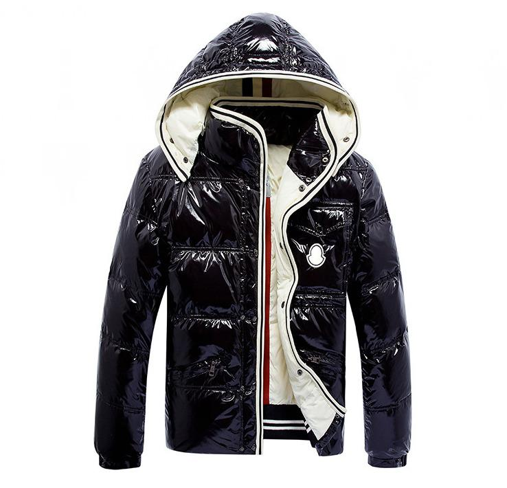 Forever classic Fashion hooded Detachable hat Men's winter down jacket Long sleeve Keep warm Shiny fabric Black and blue 201021