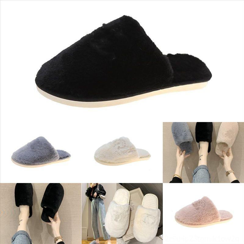 IRQ14 Горячие плюшевые женщины пушистые слайды дизайнерские меховые тапочки горный хрусталь сандалии плюшевые милые Kawaii Sale-летний лук хлопчатобумажная колодка тапочки
