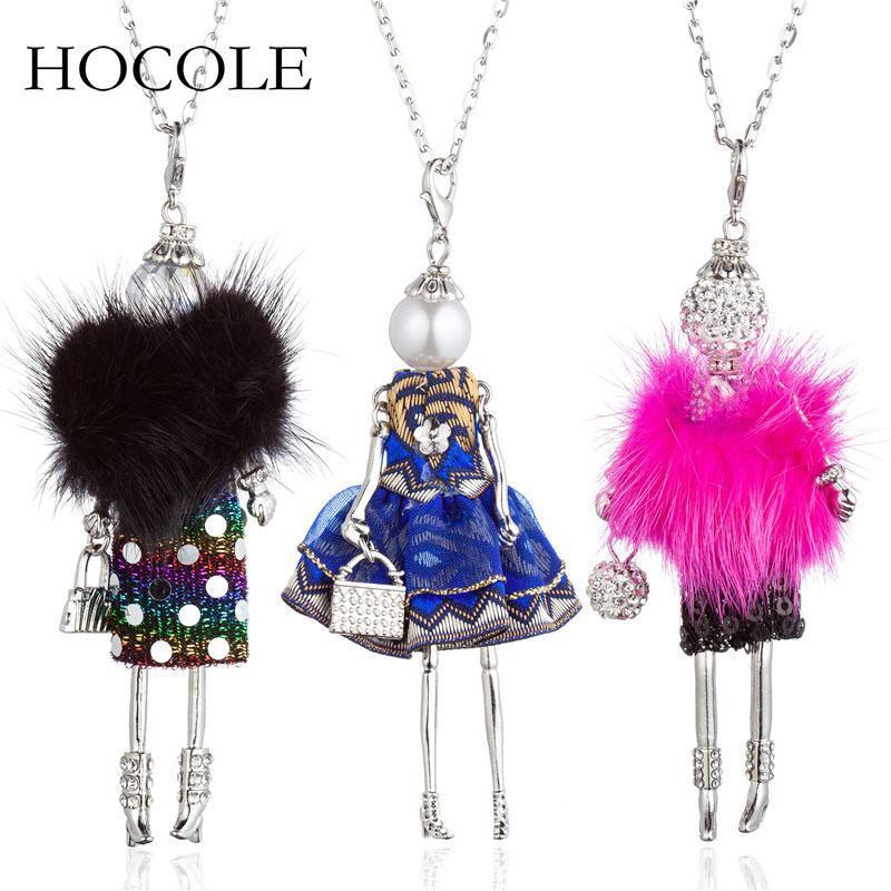2020 Nuovo abito da bambola grande Choker dei pendenti delle collane Danza neonate Dichiarazione a lunga catena della collana dei monili per le donne Maxi