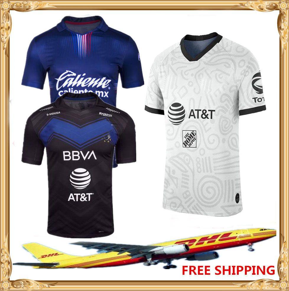 DHL Бесплатная Доставка 2020 2021 Америка Футбол Джерси 20 21 Tijuana Chivas Tigres Cruz Azul Monterrey Футбольная Рубашка Размер Может быть смешанным Пакетным