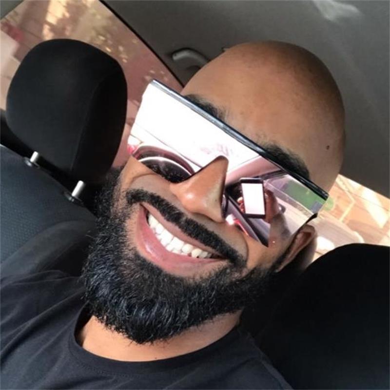 Designer Glasses Black Women Eyewear Eyewear Fashion Driving Uomo Shades Specchio quadrato Big UV400 Occhiali da sole Maschile Jossq